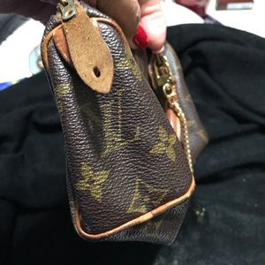 Louis Vuitton speedy MINI brown monogram satchel